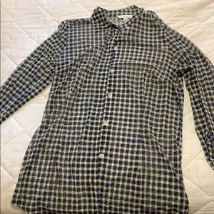 CAbI blouse size M blue and cream
